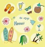 Комплект национального профиля Гавайских островов Стоковое Изображение RF