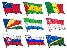 Комплект национальных флагов Стоковая Фотография