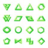 Комплект невозможных форм иллюзион оптически иллюстрация штока