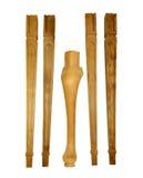 Комплект незаконченных деревянных ног для стула и таблицы Стоковое фото RF