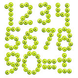 Комплект номеров сделанных от яблок Стоковая Фотография RF
