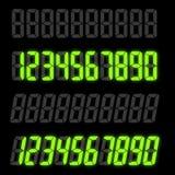 Комплект номеров цифров Стоковые Изображения
