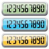 Комплект номеров цифров Стоковое Фото