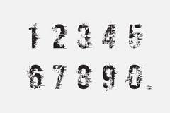 Комплект номеров grunge Стоковые Фотографии RF