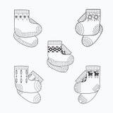 Комплект носок шерстей стоковое фото rf