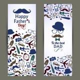Комплект дня отцов знамен Стоковое Изображение RF