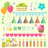 Комплект дня рождения Стоковое Изображение
