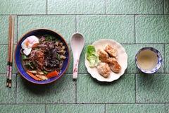 Комплект обеда вареника лапши Soba Стоковые Изображения RF