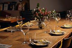 Комплект обеденного стола сервировки Стоковые Изображения