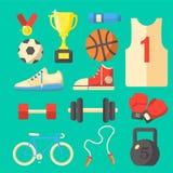 Комплект оборудования спорта Стоковая Фотография RF