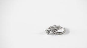Комплект обручального кольца диаманта Стоковое фото RF