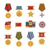 Комплект общественных коммеморативных медалей награды Стоковое Изображение