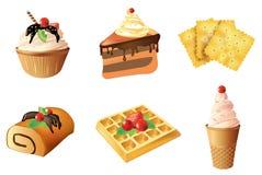 Комплект объектов десерта Стоковое Фото
