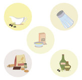 Комплект объектов кухни Стоковое фото RF
