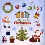 Комплект объектов рождества для вашего дизайна Стоковые Фото