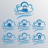 Комплект облака компьютера Стоковые Изображения