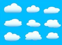Комплект облака Стоковое Изображение