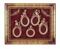 Комплект овальных барочных рамок Стоковая Фотография