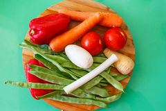 Комплект овощей & x28; томаты, лук-пореи, сельдерей, vegetables& x29 корня; fo Стоковые Изображения RF
