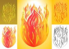Комплект огня с пламенем языка Стоковая Фотография RF