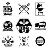 Комплект логотипа барбекю Стоковые Фото