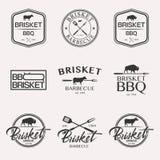 Комплект логотипа барбекю Стоковое Изображение RF