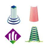 Комплект логотипа башни Стоковое Изображение