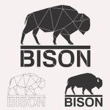 Комплект логотипа бизона Стоковое Фото