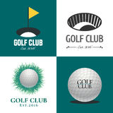 Комплект логотипа вектора гольфа иллюстрация штока