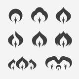 Комплект логотипа вектора дерева простой Стоковое фото RF