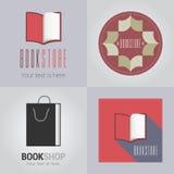 Комплект логотипа вектора bookstore или библиотеки бесплатная иллюстрация
