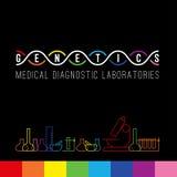 Комплект логотипа генетики Стоковое Фото