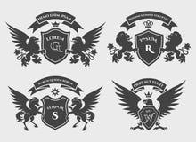 Комплект логотипа гребней Стоковое Изображение RF