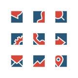 Комплект логотипа дела простой Стоковое Изображение