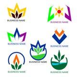 Комплект логотипа дела Стоковое фото RF