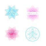 Комплект логотипа йоги Стоковые Изображения