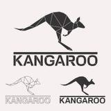 Комплект логотипа кенгуру Стоковое Фото
