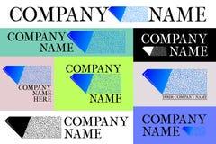Комплект логотипа компании Стоковое фото RF