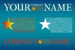 Комплект логотипа компании Стоковая Фотография RF