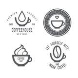 Комплект логотипа кофе Стоковое Фото