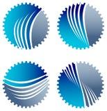 Комплект логотипа колес шестерни иллюстрация вектора