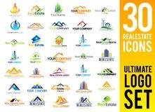 Комплект логотипа недвижимости Стоковые Фотографии RF
