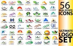 Комплект логотипа недвижимости Стоковые Изображения RF