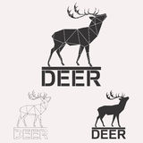 Комплект логотипа оленей Стоковые Изображения RF
