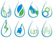 Комплект логотипа падения Стоковые Изображения