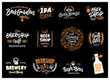 Комплект логотипа пива Стоковая Фотография