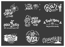 Комплект логотипа пива Стоковые Фотографии RF