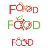 Комплект логотипа пищевой промышленности Стоковые Фотографии RF