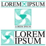 Комплект логотипа самоцветов и украшений Стоковая Фотография