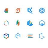 Комплект логотипа для учить, ресурсов, и учить Стоковые Изображения